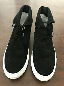JOSHUA*S Men's High Top Suede Sneakers Black – US 12 D