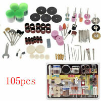 105Pcs Mini Electric Drill Grinder Rotary Tool Grinding Polishing Set New