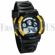 Multifuntion Children/Boys Waterproof Electronic LED Digital Sports Watches Gift
