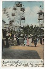 CONEY ISLAND PC Postcard NEW YORK CITY NYC NY Amusement Park CHIME Ferris Wheel