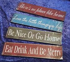 New Wall Plaques - 4 Choices - Fun Signs Vintage Style Shabby Chic See Pictures