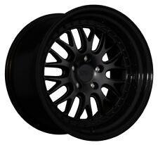 18x9.5 XXR 570 5x114.3 +35 Flat Black / Gloss Black Lip Wheels (Set of 4)