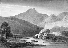 ÉCOSSE - La montagne BEN LOMOND et le LOCH LOMOND - Gravure du 19e