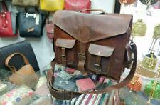 Laptop Shoulder Messenger Cross Body Bag Handbag USA made Real Leather Canvas