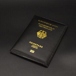 Bundesrepublik Deutschland Reisepasshülle mit Goldschrift Damen Herren 4 Farben