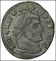 Maxentius Bronze Follis Ostia old ancient roman coin Empire Imperial Authentic
