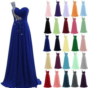 Long Formal Wedding Evening Ball Gown Party Prom Bridesmaid Dress Size 6-28