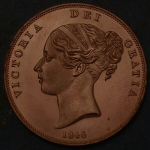 Great Britain Penny 1846 KM# 739 1930