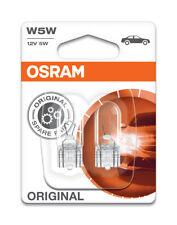 Osram W5W (501) Bombillas De Repuesto Original estándar W2.1x9.5d 2825-02B Paquete Doble