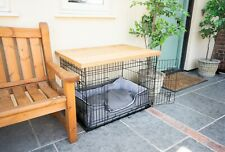 Dog Crate Cover Light Oak | Wooden Dog Crate Table Top | Wooftop | 42,36,30,24