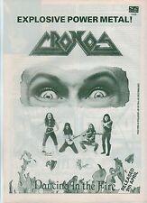 VENOM (CRONOS)  Dancing in The Fire UK magazine ADVERT / mini Poster 11x8 inches