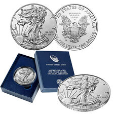 2016 W  Burnished Silver American Eagle 1oz 30th Anniversary with Box and COA