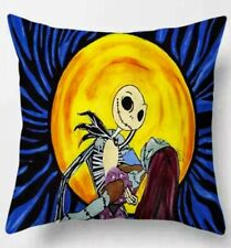 "18""x18"" Nightmare Before Christmas Pillow Cover Case Sally & Jack Skellington"