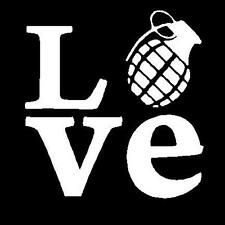 Love Grenade Decal Sticker Skateboard Snowboard Free Shipping!!!!!