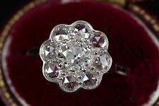 1.27CTW GIA OLD EUROPEAN ROSE CUT  DIAMOND HALO ENGAGEMENT RING BY JULIA B