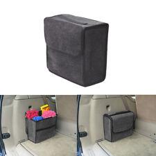 1X Car Trunk Organizer Foldable Storage Box Cargo Bag Portable Gray Woolen Felt