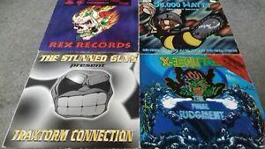 4 X Hardcore, Gabber , Happy Hardcore Rave Records 90s