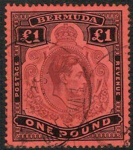 Bermuda 1938 SG121 £1 Purple and Black Fine Used (2)