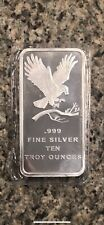 10 oz. SilverTowne Eagle Silver Bar (Brand New-Mint Condition) In Sealed Plastic