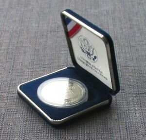 USA mint silver dollar, 1987, Constitution, cased & boxed with CoA