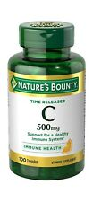 Nature's Bounty Vitamin C 500 Mg 100 Tablets Immune System Health