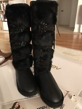 MoovCulture Moovboot Leather Boots Rabbit Fur Sheepskin Lining US7/6.5 NEW $599