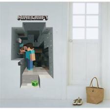 Wandtattoo XXL Steve Creeper Enderman Kinderzimmer Wandaufkleber Deko Pixel 3D
