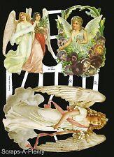 German Victorian Style Embossed Scrap Die Cut- Easter / Christmas Angels EF7099