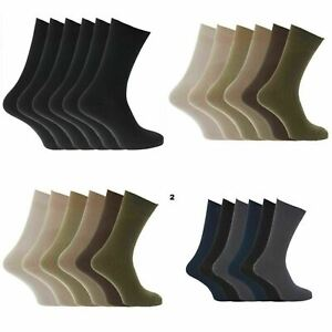 12 pairs Mens 100% Cotton Classic Socks.available in 5 sizes
