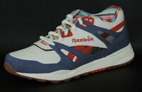 Reebok Ventilator 1-183717 Mens Shoes Classic Sneakers Leather Canvas White Blue
