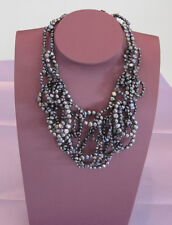 Loose Links Necklace of Grey Pearls