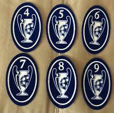 TOPPA LEXTRA UEFA CHAMPIONS LEAGUE PATCH TROPHY 4 5 6 7 8 9 Milan Real Madrid