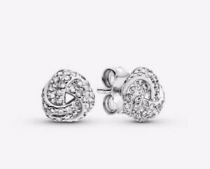 Authentic Pandora Shimmering Knot Stud Earrings