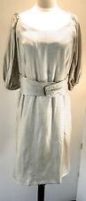 Deadstock New 1960s Couture DELLAROSSA Boutique Polka Dot Print Dress, Size 14