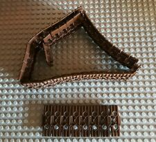 10x LEGO TECHNIC LINK TRACK in Brown