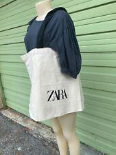 NWOT ZARA Extra  reusable Cotton Canvas Shopping Tote Shoulder Bag Beach Bag
