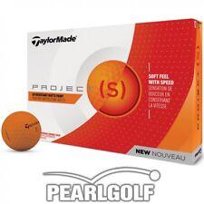 24 nuevos taylor made Project (s) 2018 Matt naranja-pelotas de golf-Embalaje original - 2 docenas