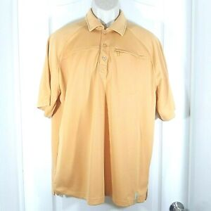 Bill Dance Mens Orange Vented Fishing Outdoor Activewear Polo Shirt Large