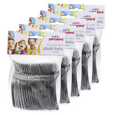 200pc Partyland Mini Forks/Cutlery/Utensils Desserts/Cake/Tarts Party Metallic