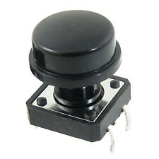 10pcs Momentary Tact Tactile Push Button Switch 4 Pin w Cap AD