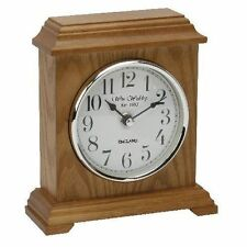 Wooden Art Deco Style Desk, Mantel & Carriage Clocks