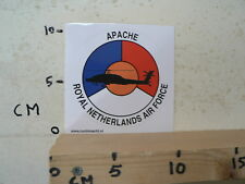 STICKER,DECAL ROYAL NETHERLANDS AIR FORCE,LEGER, ARMY, APACHE HELICOPTER
