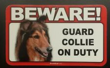 Laminated Card Stock Sign- Beware! Guard Collie On Duty