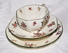 Antico VECCHIO Royal Doulton Leeds SPRAY TRIO TAZZA PIATTINO PIATTO design REG No. Early