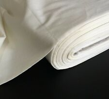 "50 Metres 100% Cotton Sateen ''Ivory Cream'' Curtain Fabric Lining 54"" Wide"