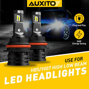 AUXITO 9007 HB5 LED Headlight Bulbs 12000LM High Low Beam Combo Kit 52W 6500K E2