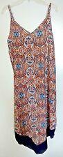 Espresso 100% rayon multi-color floral/geometric print sun dress Size Medium