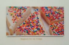 AUSTRALIAN KIDS FAVOURITE PARTY FOOD FAIRY BREAD FRIDGE MAGNET - M361 F