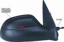 SPECCHIO SPECCHIETTO RETROVISORE SX CITROEN SAXO 1996 - 1999 A CAVI NERO