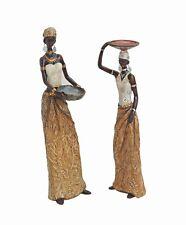 2 Skulpturen Motiv afrikanische Frau je 35 Cm Afrikanerin Massai